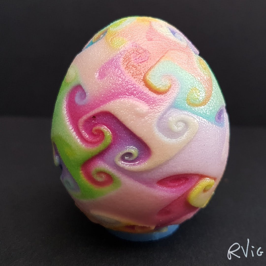 Color Swirls Egg