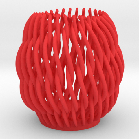 Spectacular Helicoid Mesh Vase